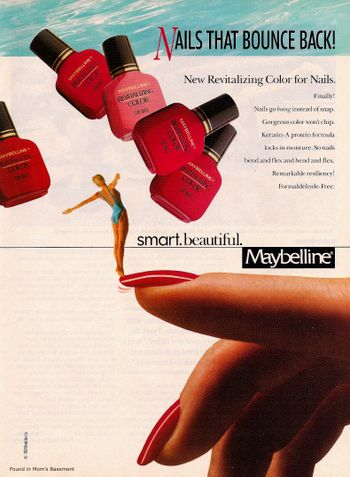 Nail Polish Ads From The 1980s Vintage Makeup Ads Vintage Nails Nail Polish