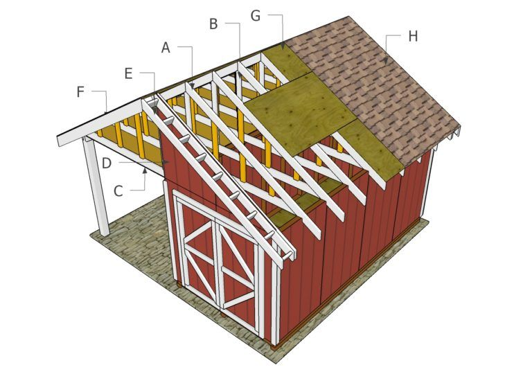 Shed with Porch Roof Plans MyOutdoorPlans Free