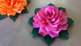 442 Faire Une Rose En Papier Bricolage Facile A Faire A La Maison