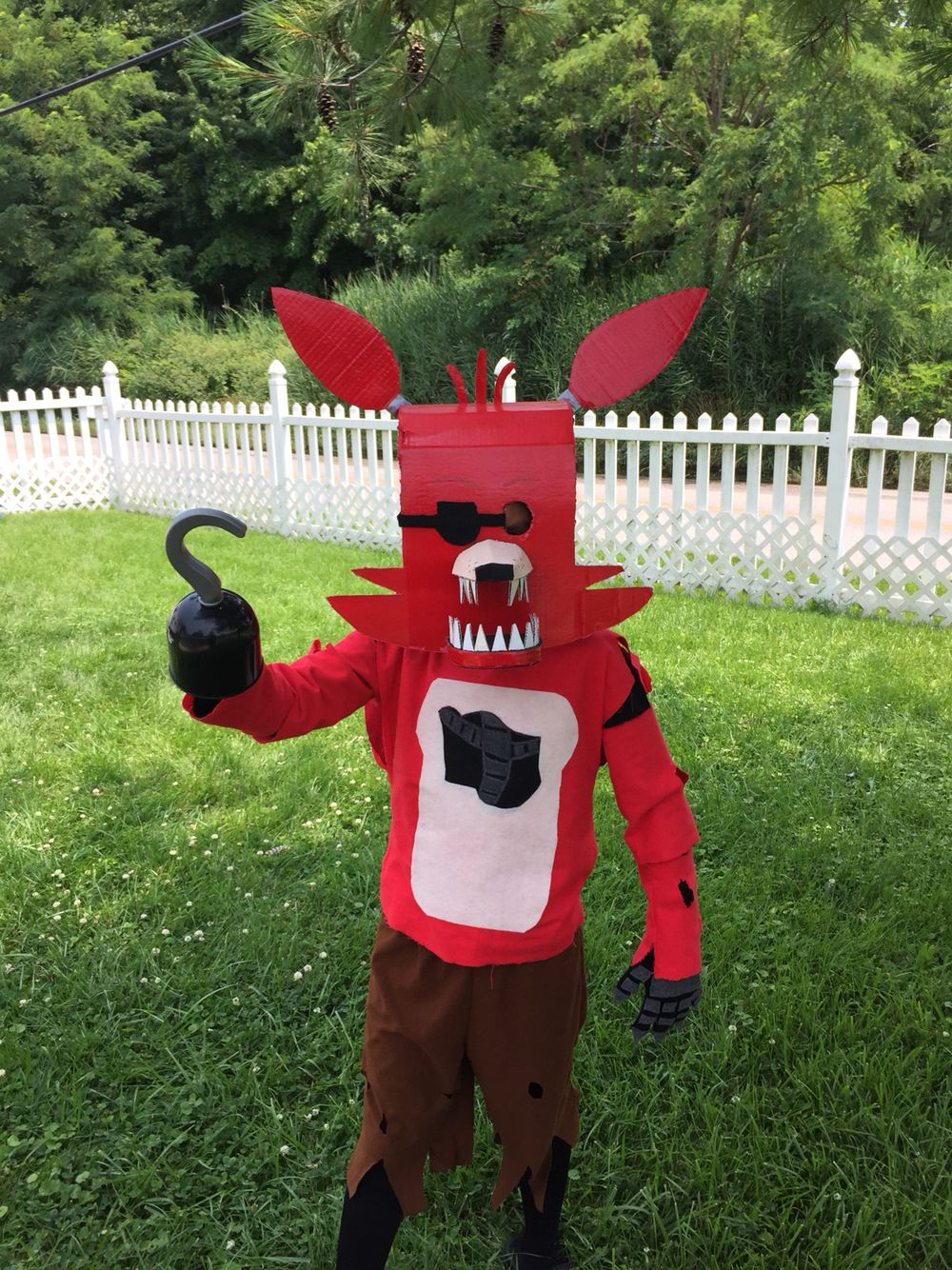 How to make your own five nights at freddys foxy plush - Five Nights At Freddys Homemade Costume For Playtime