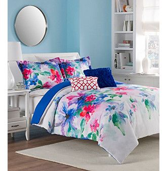LivingQuarters Loft Watercolor Flower 5-pc. Comforter Set at  www.herbergers.com