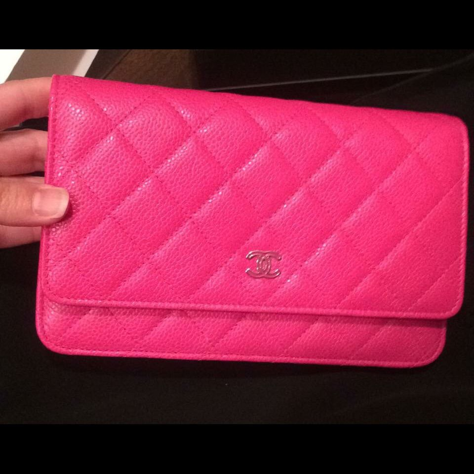 4fbcbd533746db 100% Authentic Chanel Woc Hot Pink Caviar Leather | Products ...