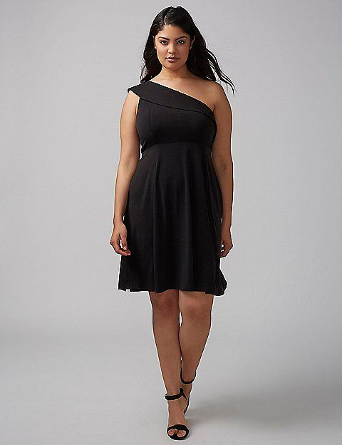 dacd5f82d1 One-Shoulder Fit   Flare Dress