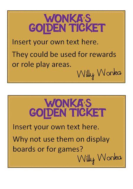 Teacher 39 s pet editable golden tickets free classroom for Golden ticket template editable