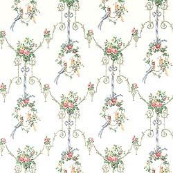 Thibaut Historic Homes Vol VII - Courting - Wallpaper - White