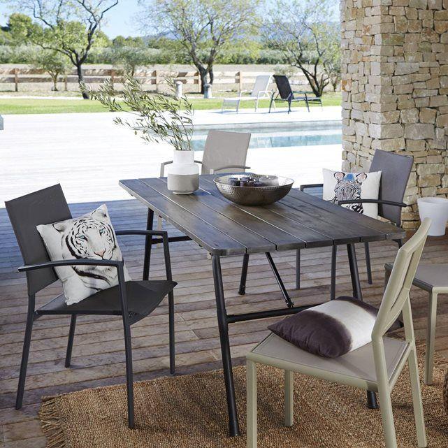 Table de jardin pliante bois et métal Sohan | Pinterest | Table de ...