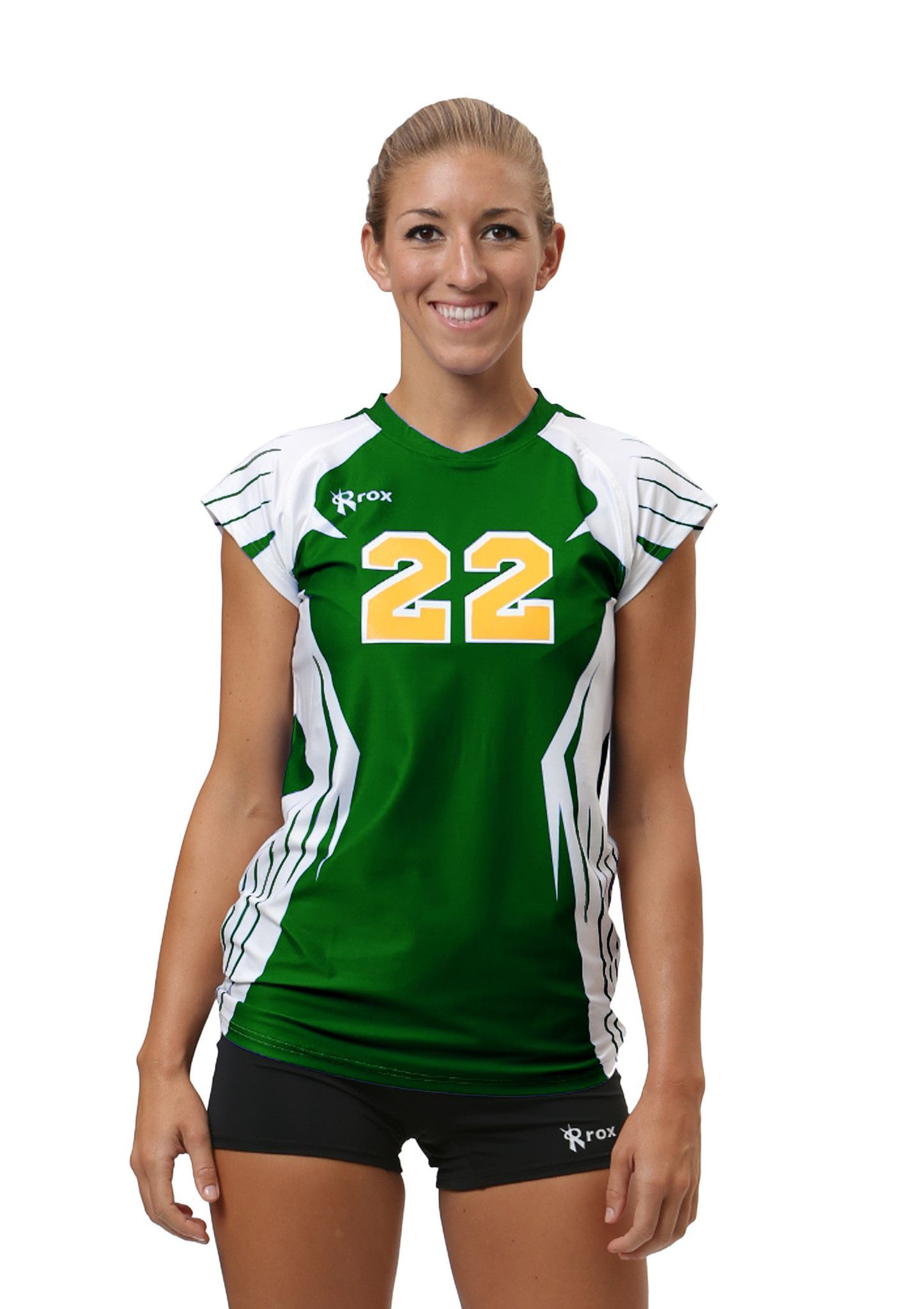 Boom Stock Cap Sleeve 1126 8101 Forest White Cap Sleeves Women Volleyball Volleyball Jerseys