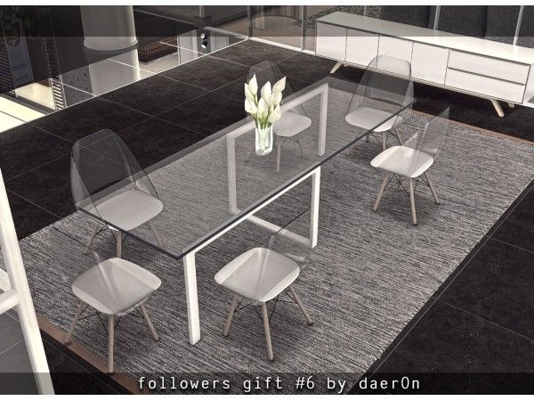 The Sims 4 Scandinavian Dining Table Lumisource Tonic Mid Century Dining Chair Scandinavian Dining Table Sims 4 Sims 4 Kitchen