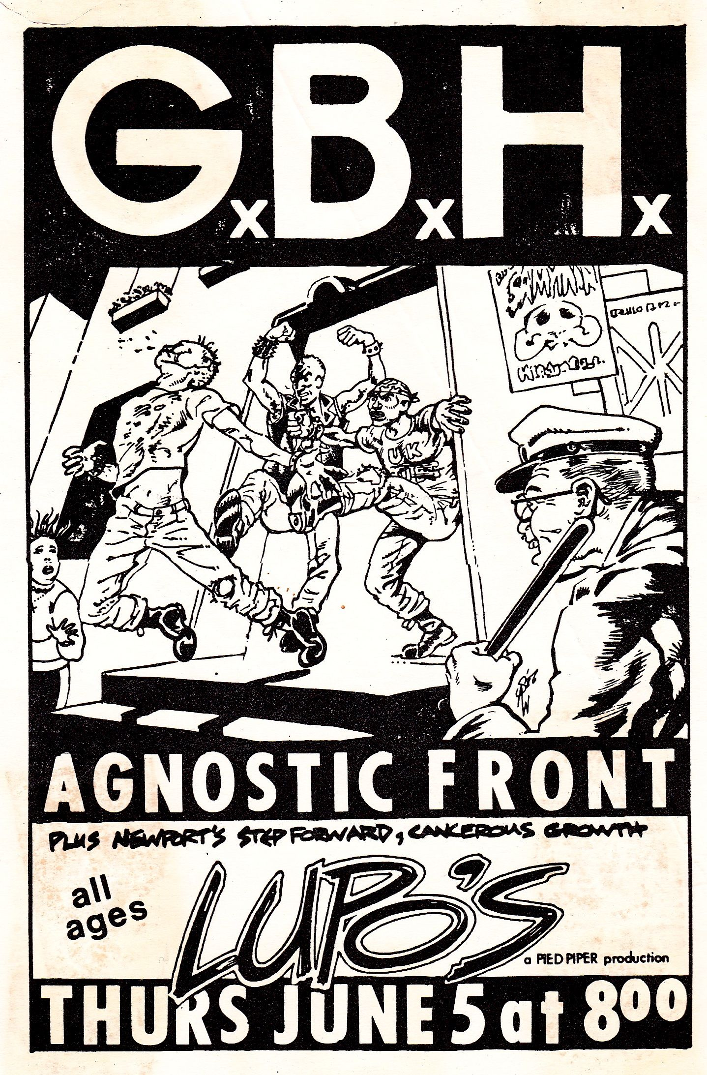 35f95aebe G.B.H. Agnostic Front at Lupo's. Find this Pin and more on Old Punk Rock ...