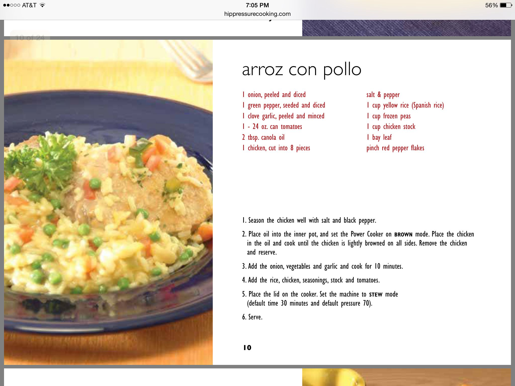 Arroz Con Pollo In Electric Pressure Cooker
