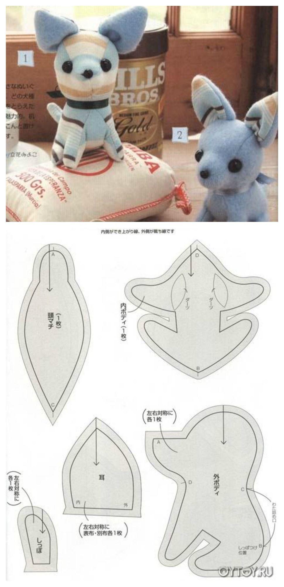 Chihuahua Pattern | Muñecos de tela. | Pinterest | Muñecas, Patrones ...