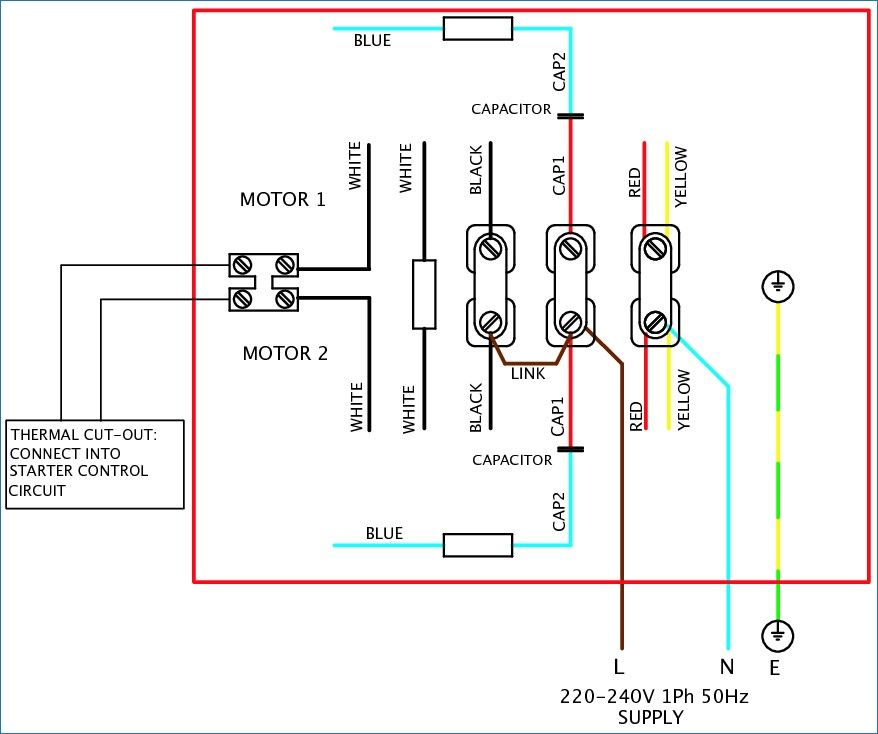 4 Lead Single Phase Motor Wiring Diagram