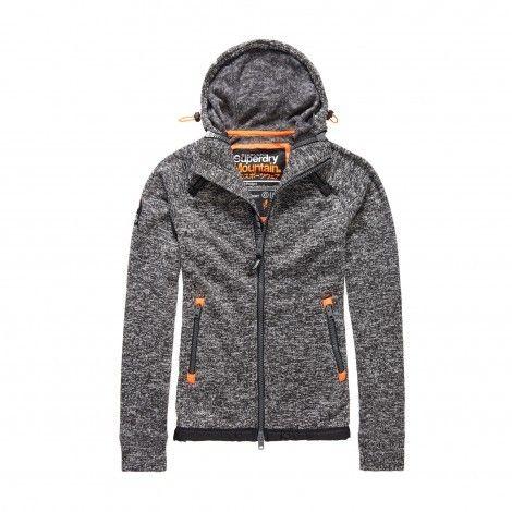 Superdry Storm Double Zip vest heren charcoal De Wit
