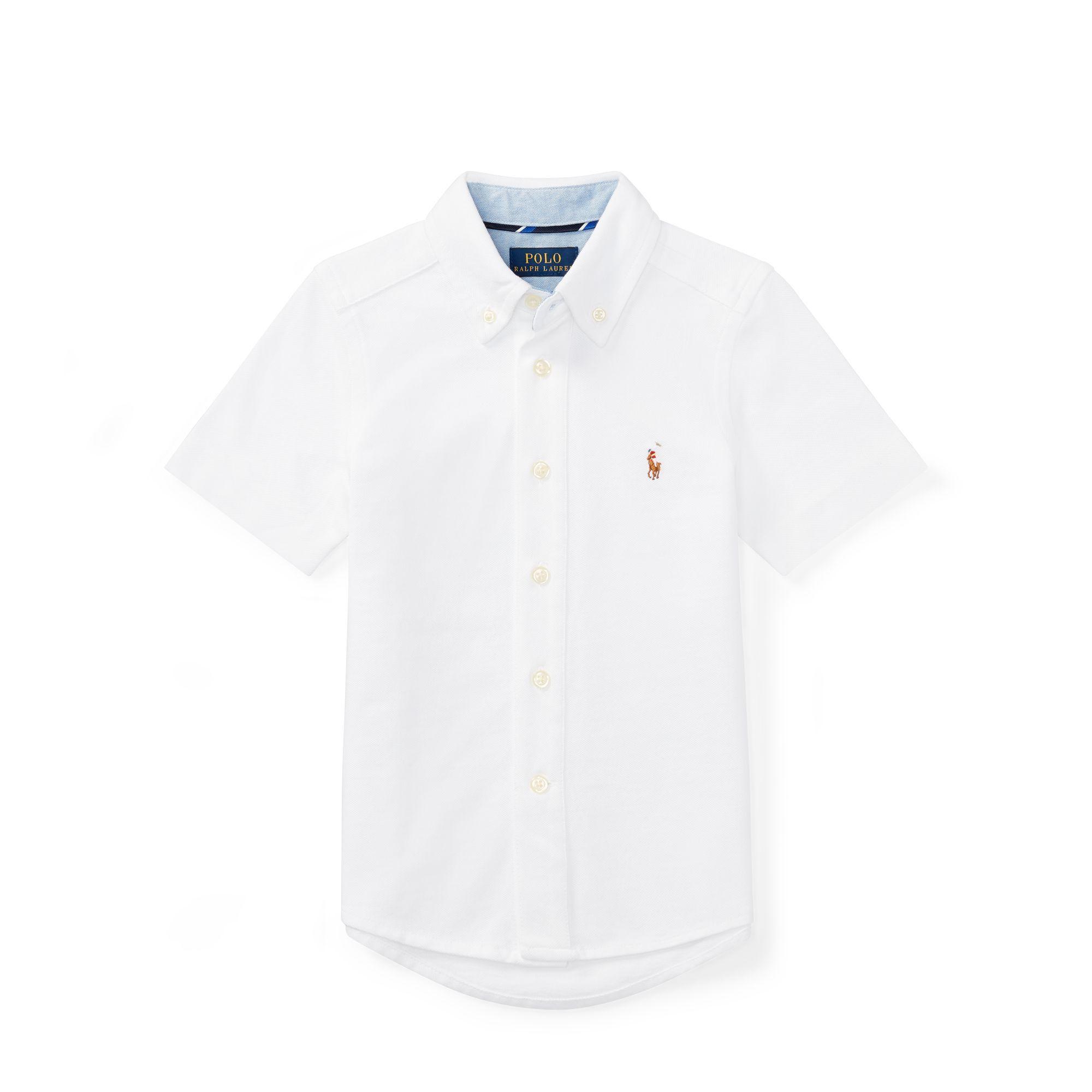 Knit Cotton Oxford Shirt - Shop All Boys 1½-6 Years - Ralph Lauren UK