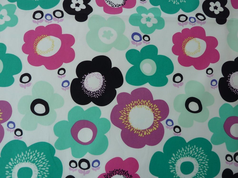 Retro Funky Flowers 100% Cotton Fabric by Art Gallery Dressmaking Crafts #ArtGallery