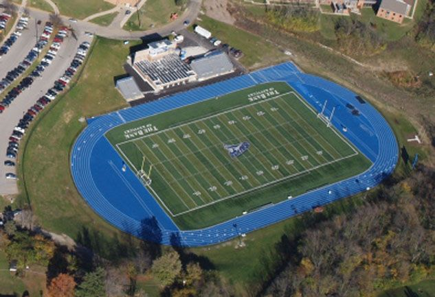 The Bank Of Kentucky Field Football Soccer Lacrosse Track Field Thomas More College Athletics College Athletics Track And Field Field