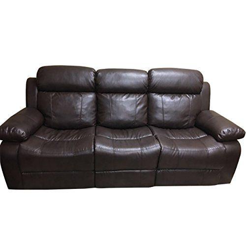 Coja By Sofa4life Murphey Faux Leather Sofa Brown Faux Leather Sofa Reclining Sofa Dark Brown Sofas