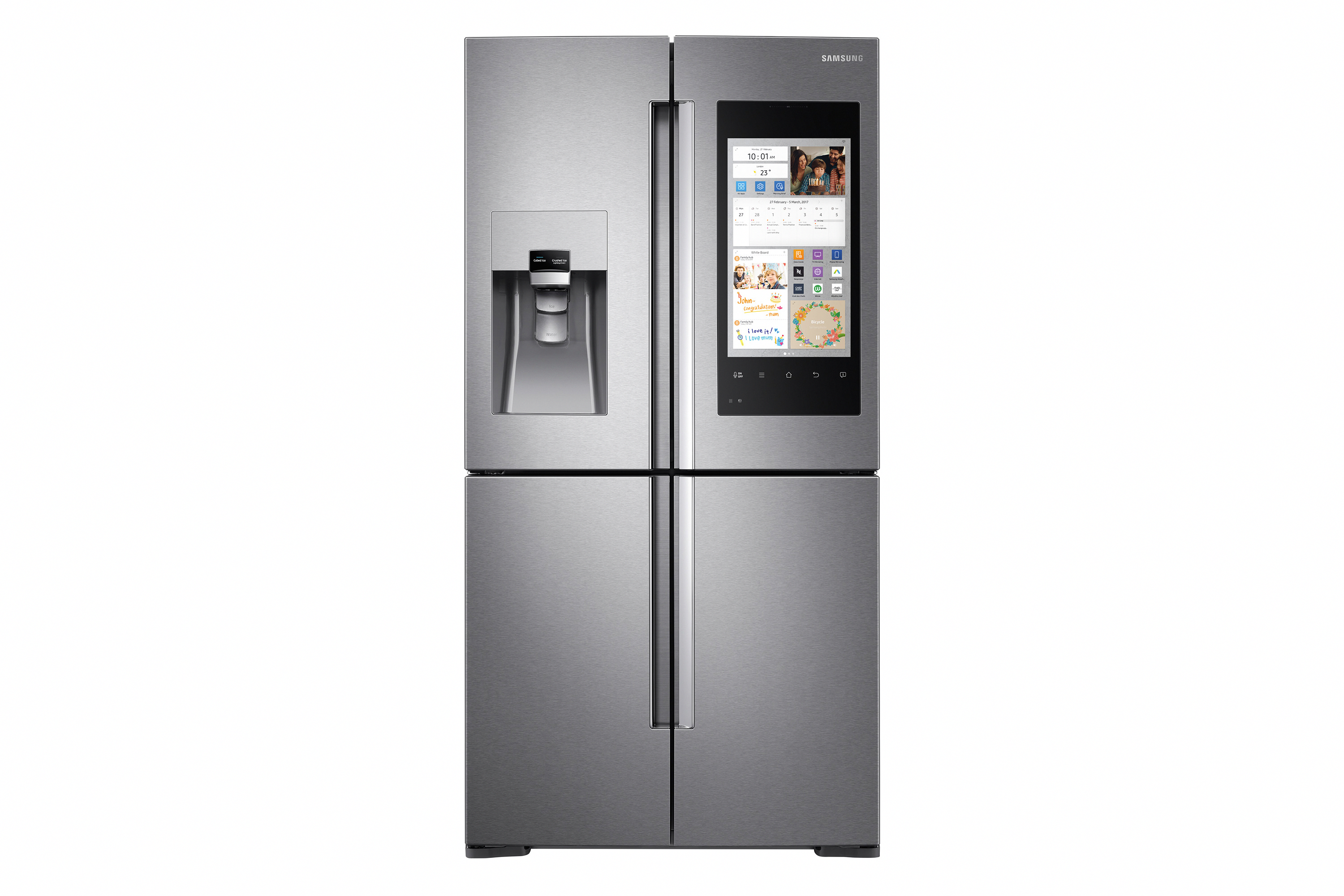 Home Appliances App Homeappliancesandelectronics Homeappliancesexhibition In 2020 Multi Door Fridge Samsung Family Hub Fridge Best Fridge Freezer