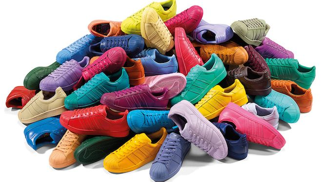 Adidas Superstar : des baskets aux couleurs arc-en-ciel ...