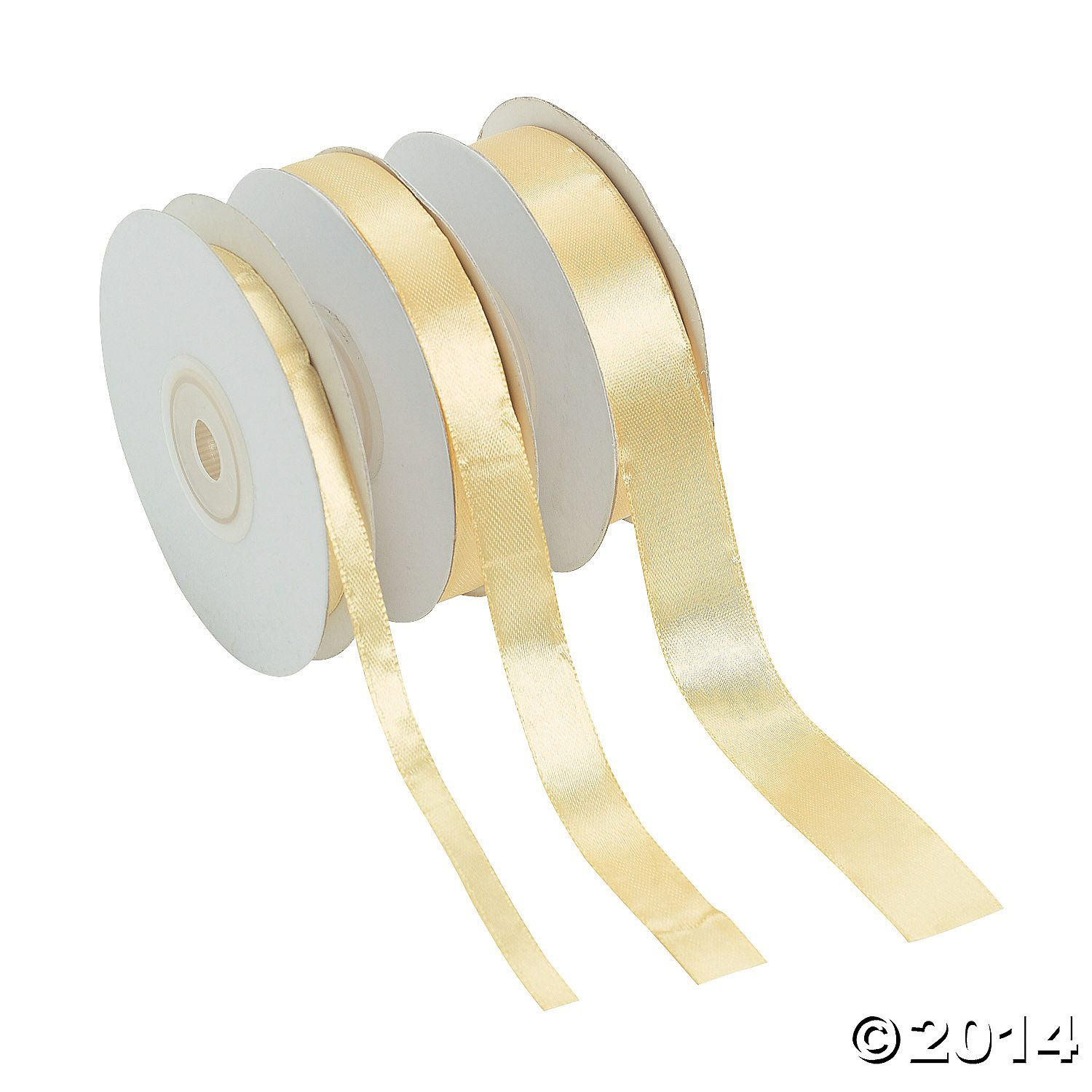 Pale+Gold+Satin+Ribbon+Set+-+OrientalTrading.com