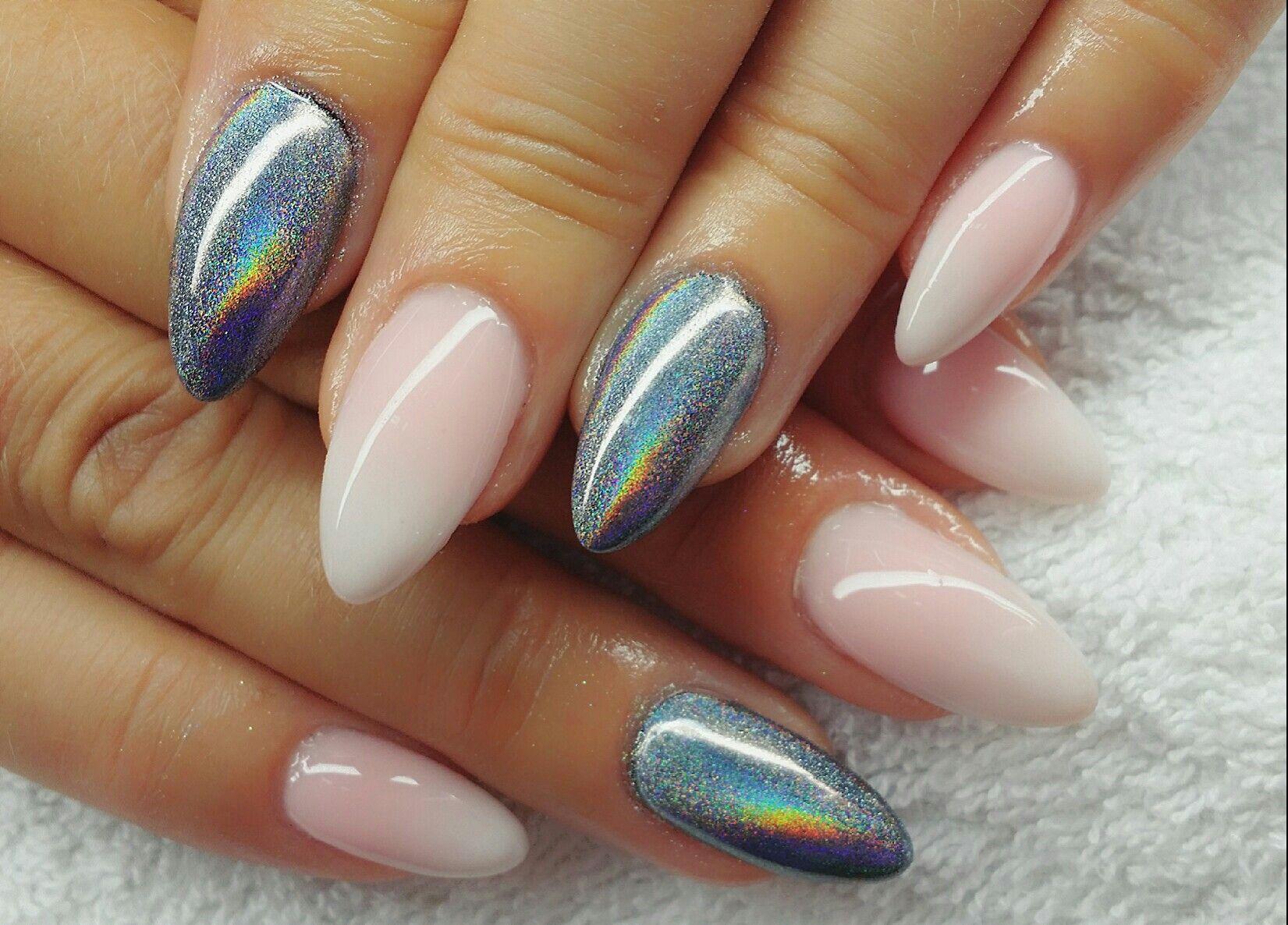 Nail Design Fullcover Chrome | nails. | Pinterest | Nageldesign ...
