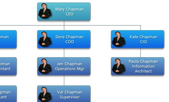 Lance shared a practical solution for managing large org charts - how to organize chart examples