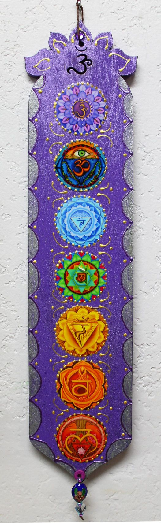 Chakra Plaque meditation plaquezen plaque yoga by LoriFelixArtwork