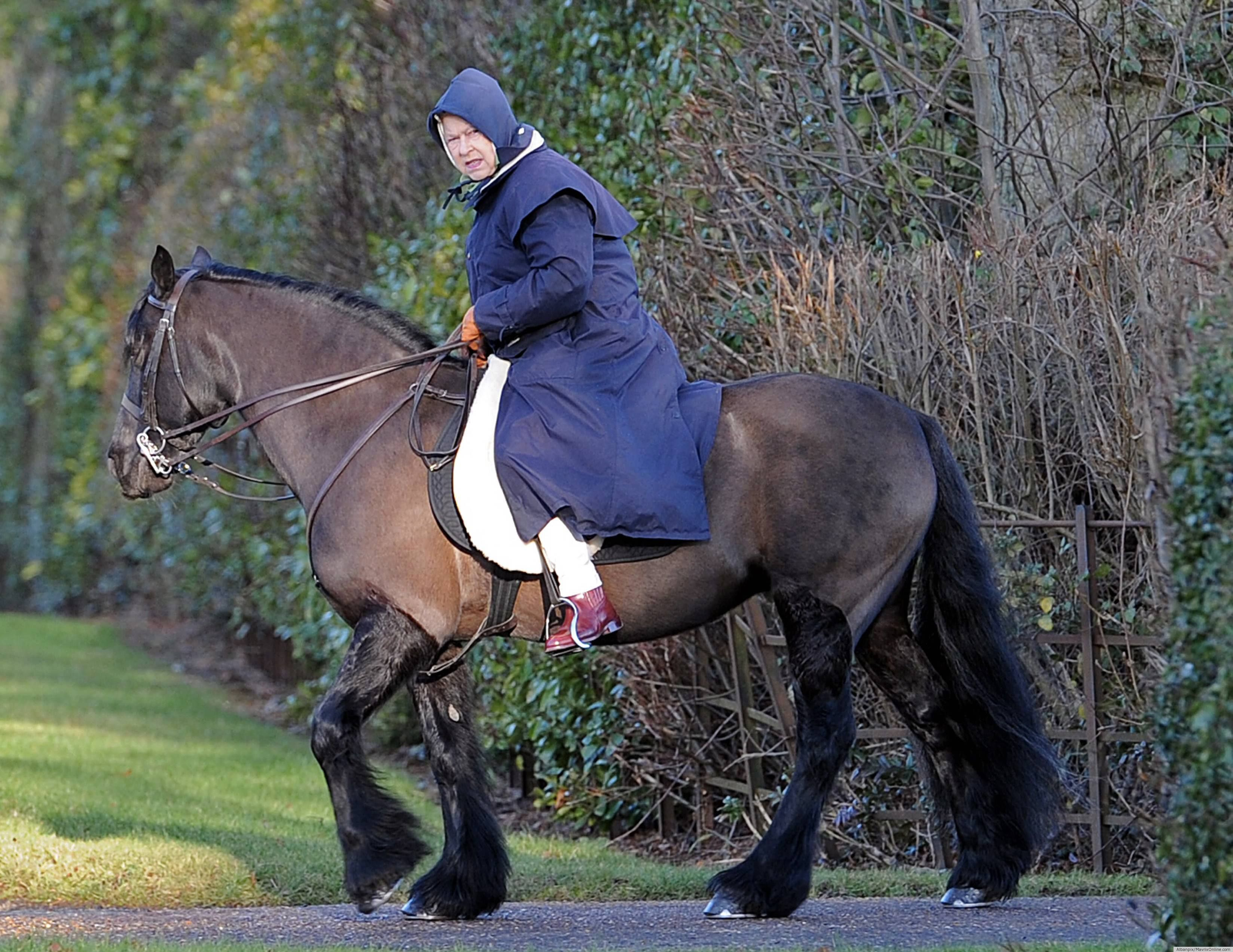 2012 - The Queen - still riding at 85