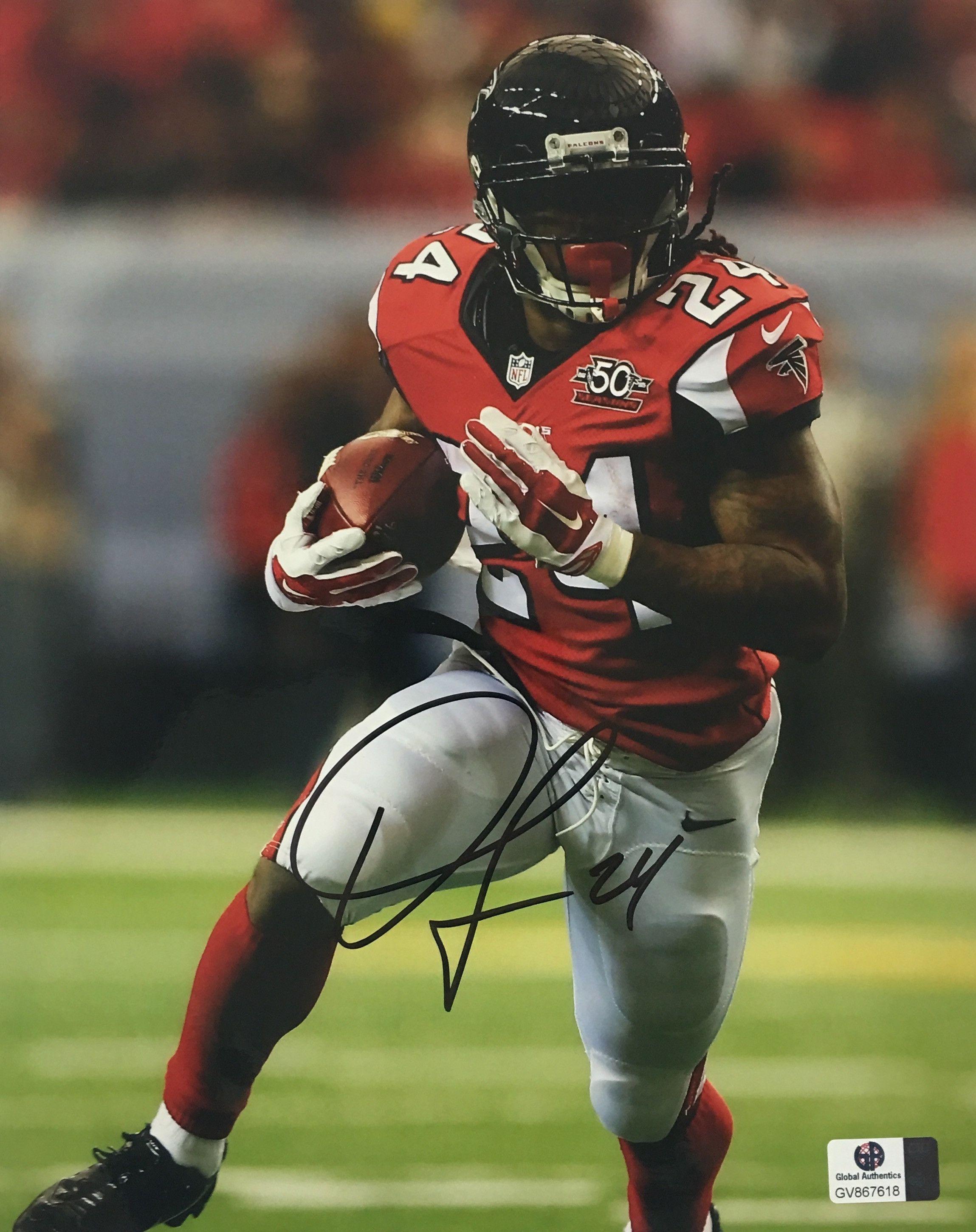 Devonta Freeman Atlanta Falcons Signed 8x10 Photo Devonta Freeman Atlanta Falcons Atlanta Falcons Logo