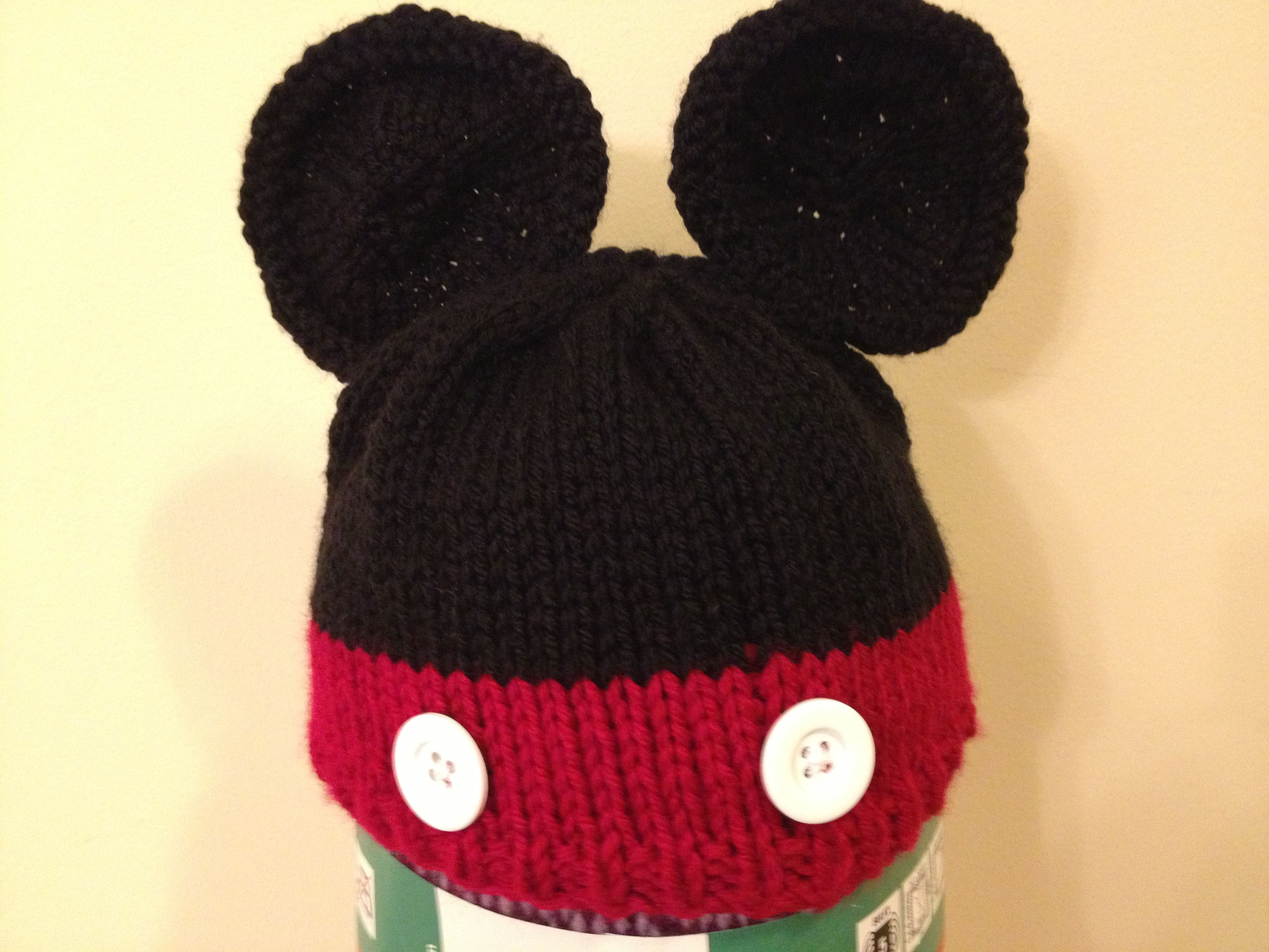 Mickey Mouse baby hat for my friend whos expecting Made from the Mouse E...