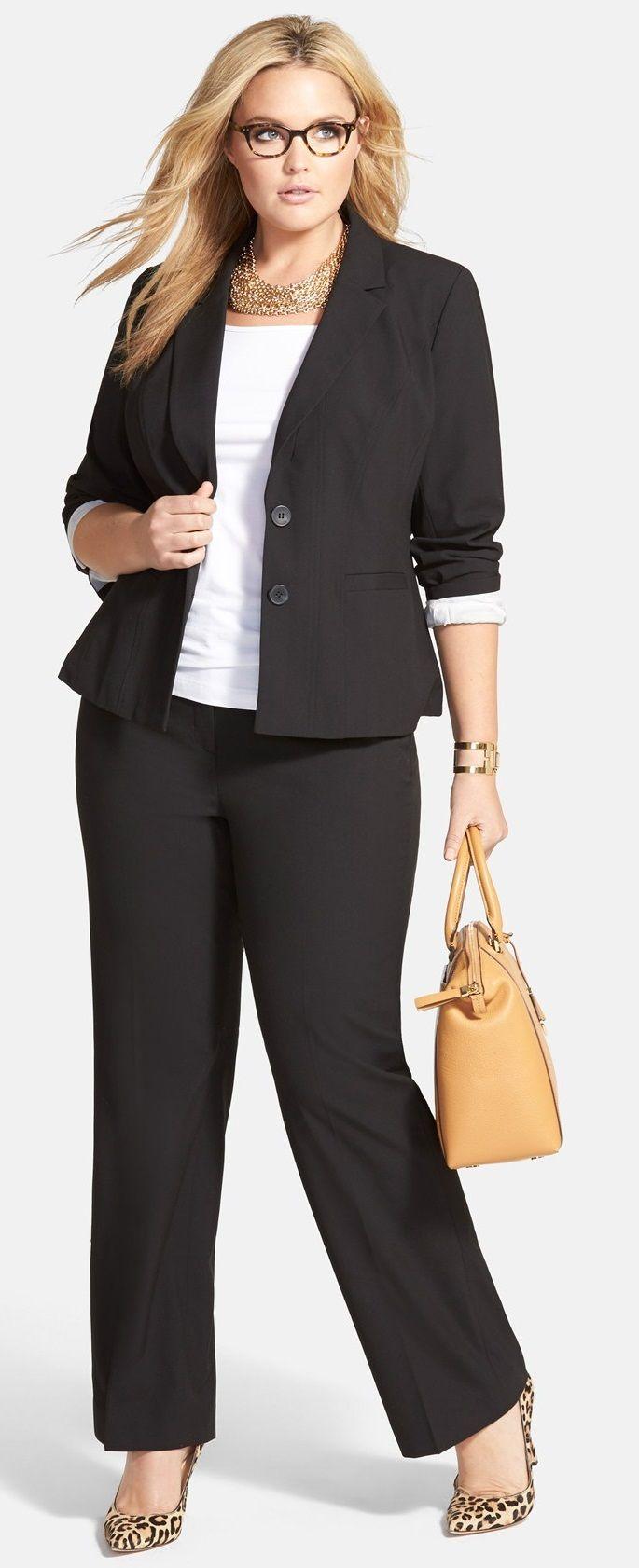 9411ef6ffc6 Plus Size Suit | Plus Size Fashion | Plus size work, Plus size suits ...