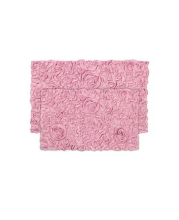 Bellflower Bath Rug 2 Pc Set Pink