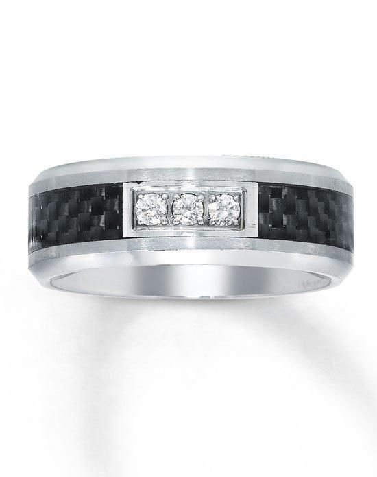 Kay Jewelers Tungsten Carbon Fiber Mens Diamond Ring