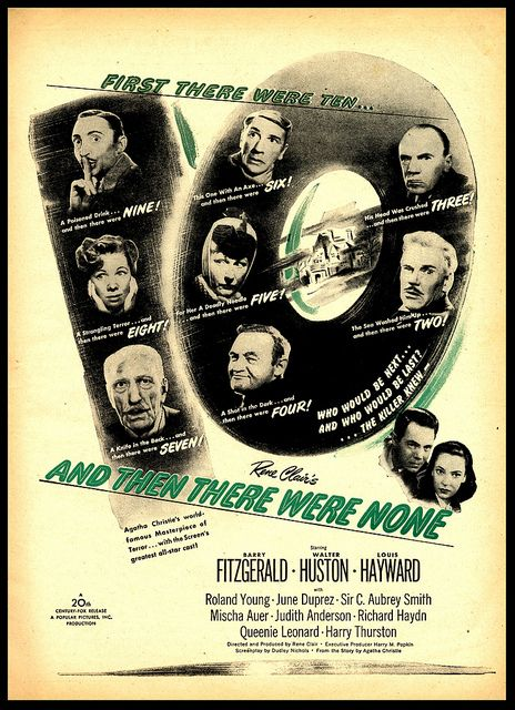 And Then There Were None 1945 Then There Were None Agatha Christie Movie Posters