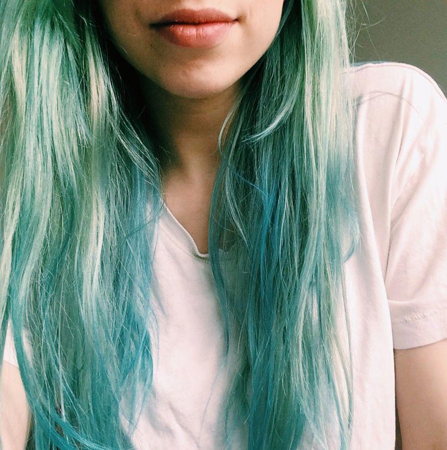 L Oreal Colorista Mint Green And Aqua Blue Hair Colouring Dye