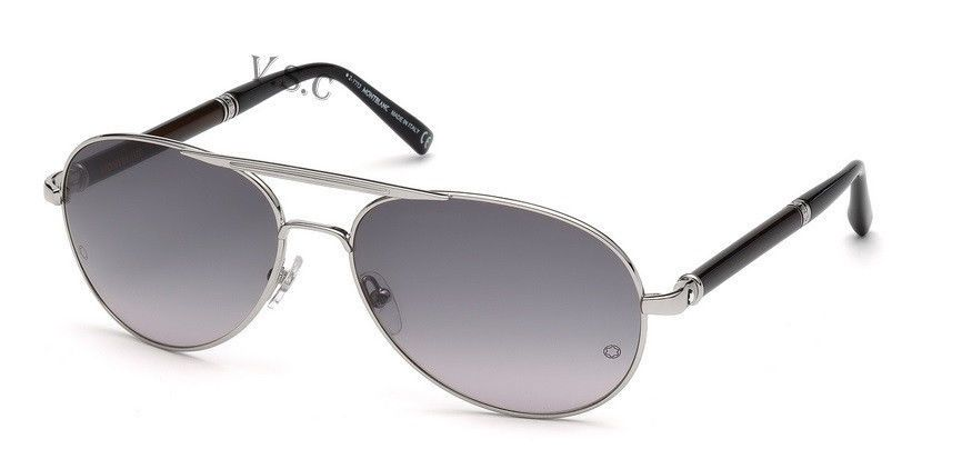 MONT BLANC MB458S SUNGLASSES 458S SUN GLASSES AVIATOR PILOT FRAME 16B  PALLAD NEW  MONTBLANC  Aviator 79506a205923