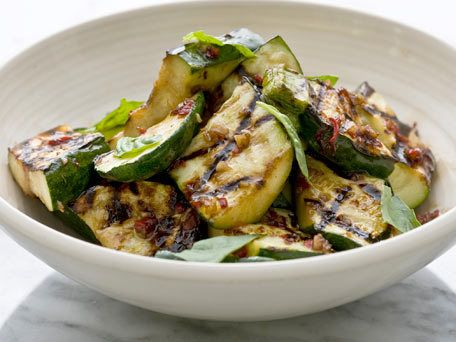 Grilled Zucchini with Basil and Balsamic, sounds like a perfect side for dinner.