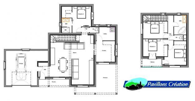 Plan Maison à étage 2 Idées pour la maison Pinterest