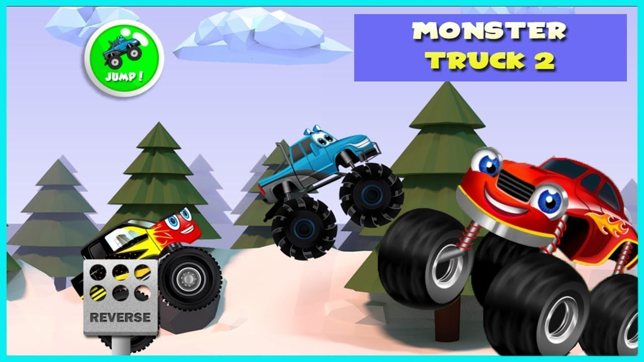 Monster Truck Game for Kids 2 - Racing & Adventure Videos Games for Kids