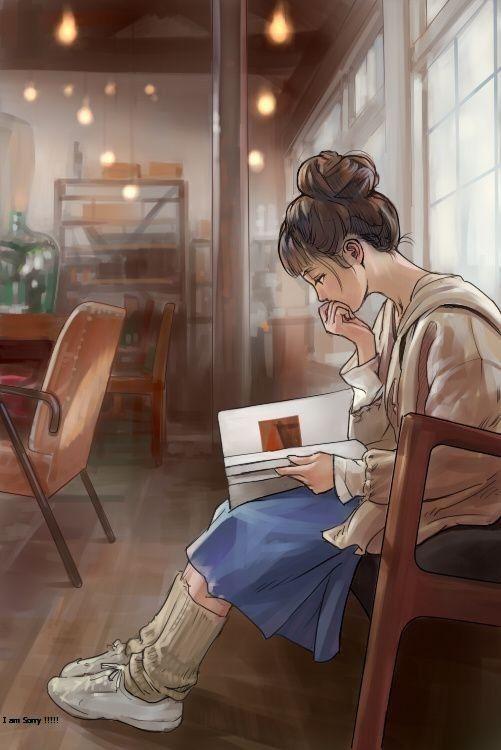 Wigoqq Gadis Seni Ilustrasi Orang Gadis Animasi