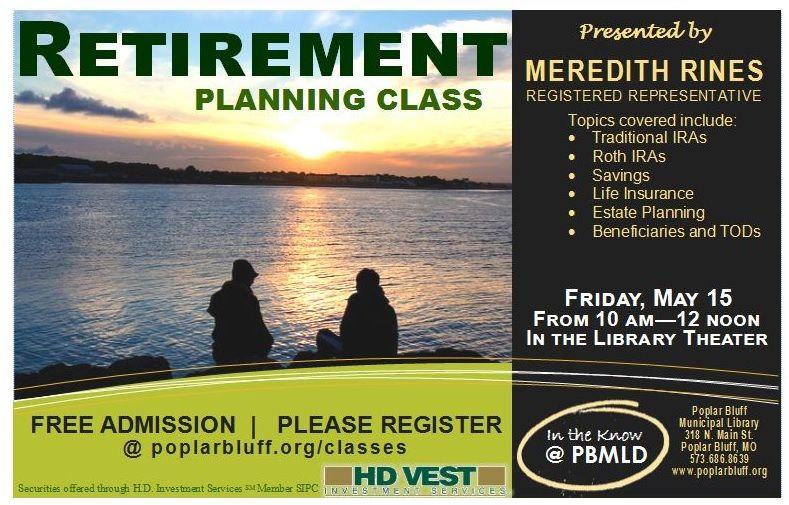 FREE Retirement Planning Class in Poplar Bluff, MO