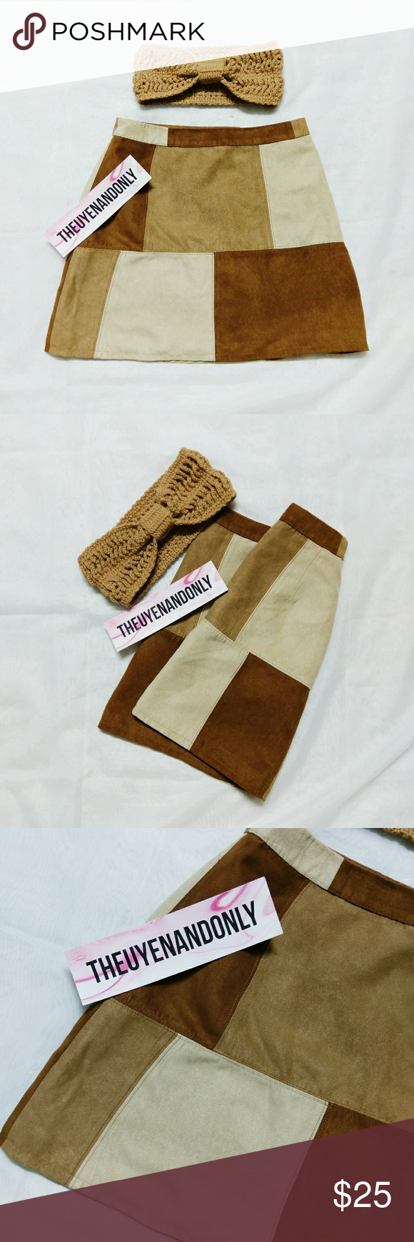 f2fba5c48 NWOT Hollister Patch Suede Skirt + FREE GIFT NEW WITHOUT TAG Hollister  Suede Skirt NEVER WORN FREE GIFT: Handmade Headband FREE SHIP is available.