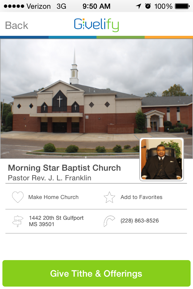 Morning Star Baptist Church in Gulfport, Mississippi #GivelifyChurches