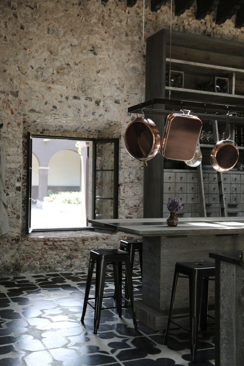 Xavie Z Cuisine En Chene Dark Stone Et Pierre Bleue Kitchen