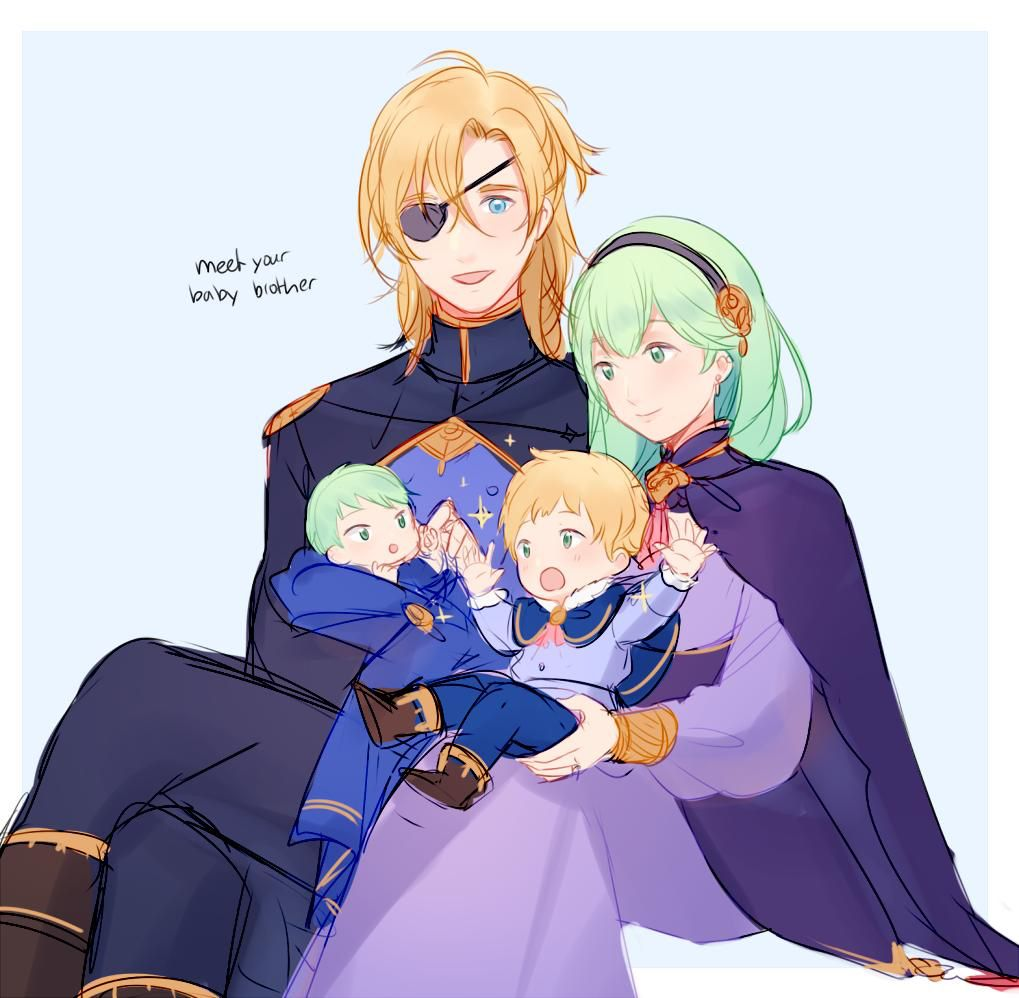 Dimitri And Byleth With Their Children Fire Emblem Characters Fire Emblem Fates Fire Emblem Heroes