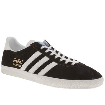 Black � mens adidas black \u0026 white gazelle ...