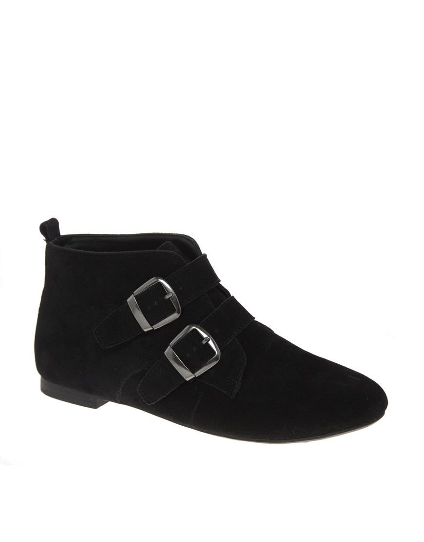 f301b5258 New Look Catfish Black Buckle Ankle Boots