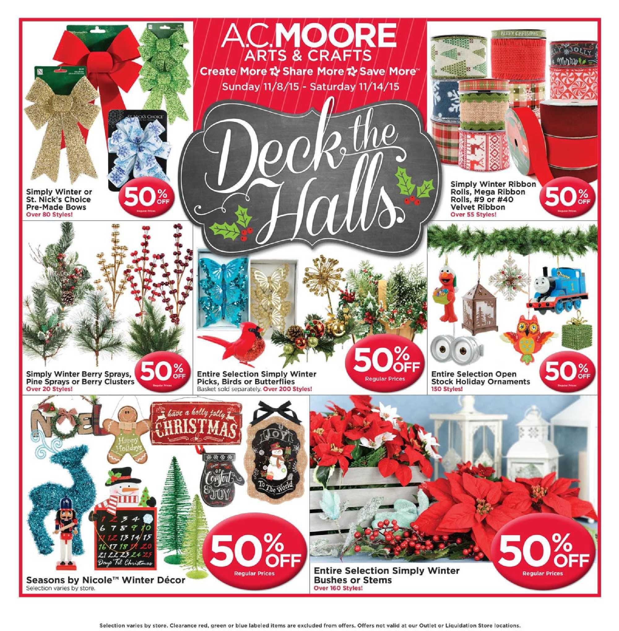 AC Moore Weekly Ad November 8 - 14, 2015 - http://www.olcatalog.com/home-garden/ac-moore-weekly-ad.html