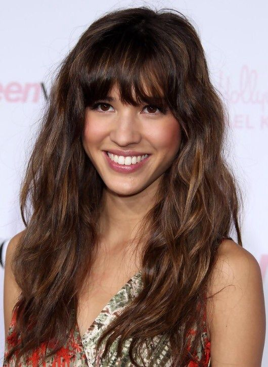 Bangs With Wavy Long Hair Long Wavy Hair