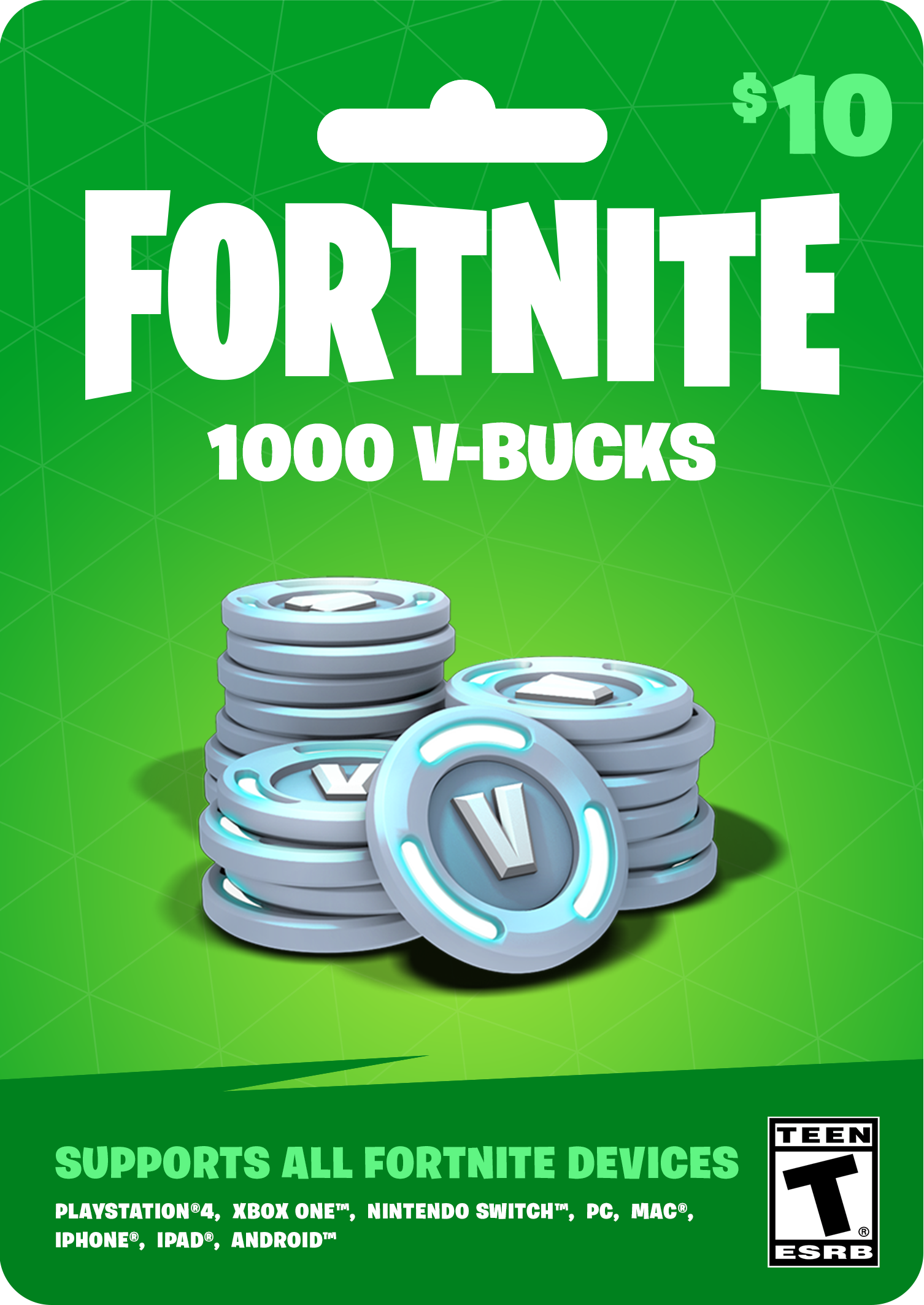 Fortnite 10 VBucks Currency card, Cool things to buy